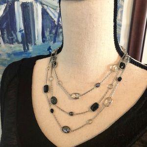 Swarovski 3-tier layered necklace